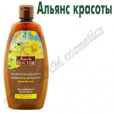 Шампунь-бальзам фито-формула  для гладкости и блеска волос, для непослушных жестких волос
