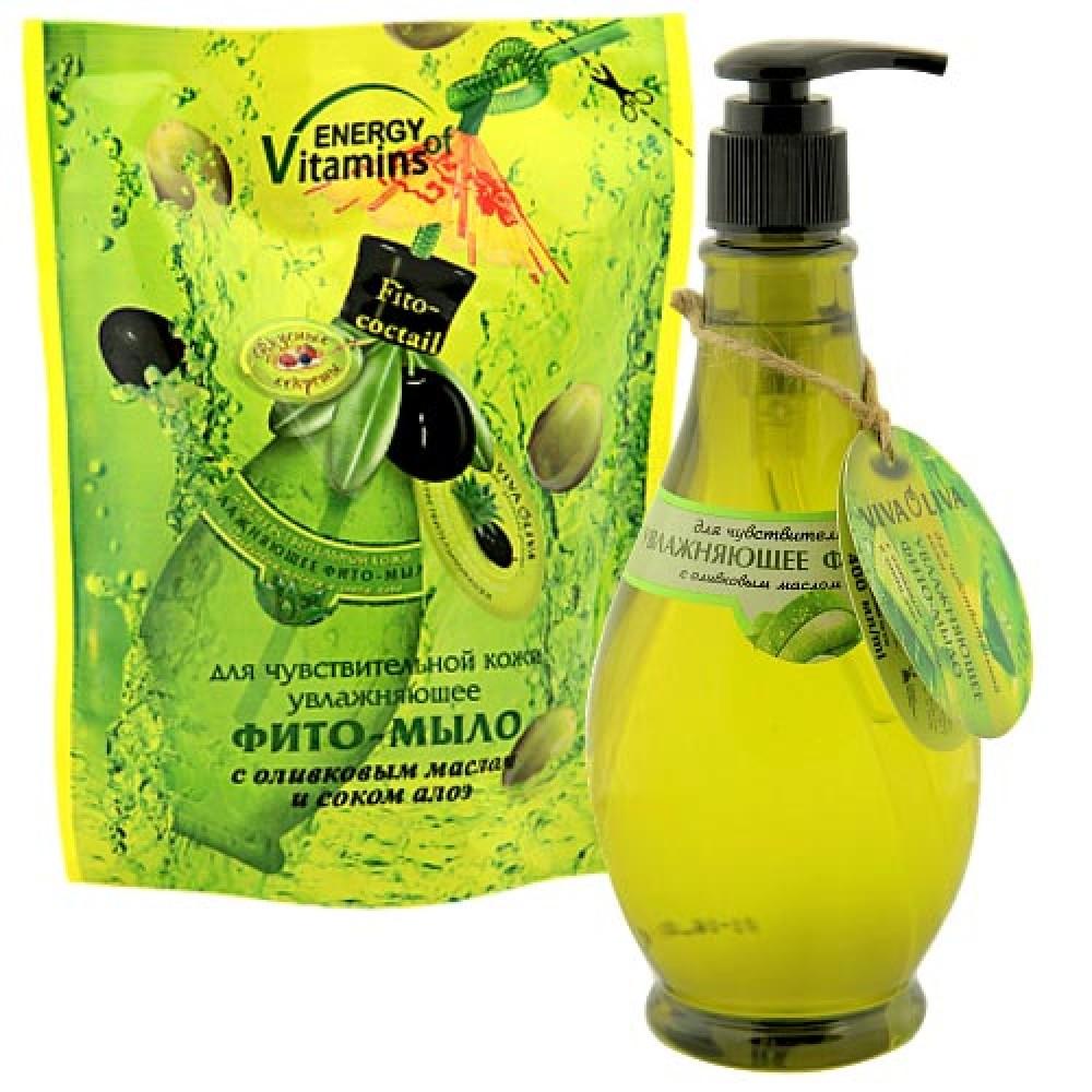 УВЛАЖНЯЮЩЕЕ ФИТО-МЫЛО для чувствительной кожи с оливковым маслом и соком алоэ