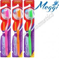 Зубная щетка средней жесткости Meggi Fresh&White Massager