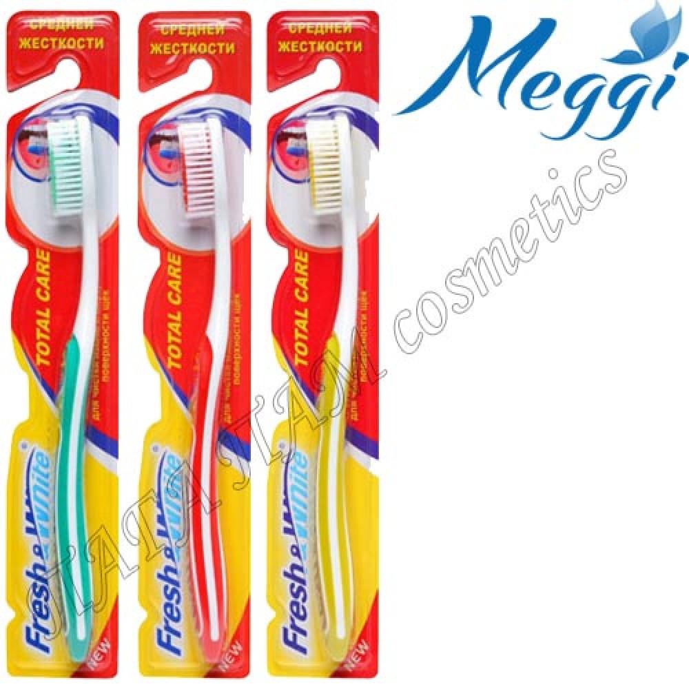 Зубная щетка средней жесткости Fresh&White Total Care