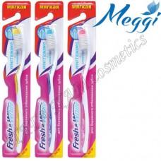 Зубная щетка мягкая Meggi Fresh&White Whitening + Sensitive