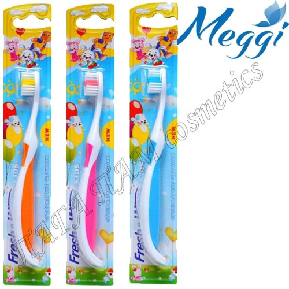 Детская зубная щетка с лапкой Meggi Fresh&White Kids Cats Steps