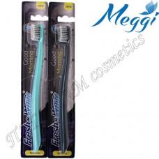 Зубная щетка для чувствительных десен, мягкая Meggi Fresh&White Good Morning